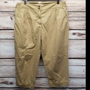J Crew Broken-in Chino Pants Pleated Khaki Tan